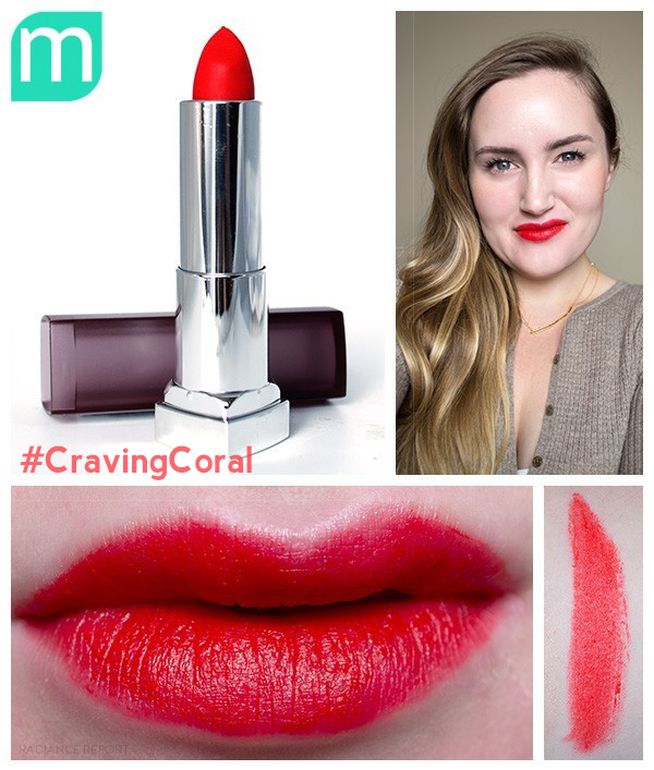 Maybelline-Craving-Coral-Creamy-Matte-swatches